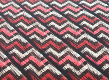 BW Jersey Digital Wood Chevron (Rot Braun)