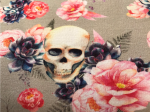 French Terry Skull Blume (Grau)